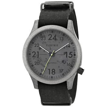 Electric California Men's EW0010020037 FW01 Analog Japanese Quartz Distressed Grey MFP Field Watch