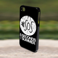 Accessories Print Hard Case for iPhone 4/4s, 5, 5s, 5c, Samsung S3, and S4 - SOS 5 Second of Summer Band Logo