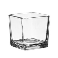 "Bulk Square Glass Candleholders, 3"" at DollarTree.com"