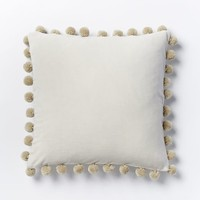 Jay Street Ashti Pom Pom Pillow Cover - Ivory