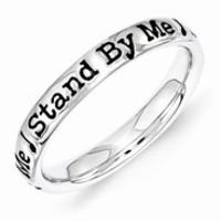 Sterling Silver Lyric Stand by Me Ring