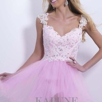 New Pink Homecoming Cocktail Prom Party Dresses Evening Gowns Short/Mini V Neck
