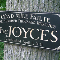 Celtic Sign, Irish Name Sign, Irish Blessing Sign, Celtic Sign, 5th Anniversary Sign, Benchmark Custom Signs Maple CJ