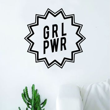 Girl Power V6 Wall Decal Sticker Vinyl Art Bedroom Living Room Decor Decoration Teen Quote Inspirational Motivational Cute Lady Woman Feminism Feminist Empower Grl Pwr Love Strong Beautiful