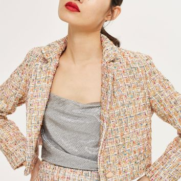 Boucle Cropped Jacket | Topshop
