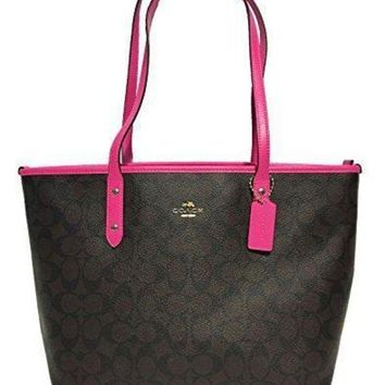 CREY1O Coach Signature City Zip Tote Bag Handbag