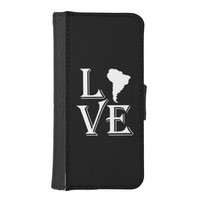 Love South America Continent iPhone 5 Wallet Cases