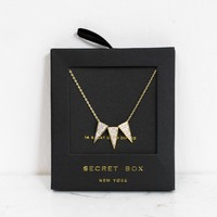 14K Gold Party Banner Necklace