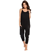 Sexy Supersoft Gray Cosy Pajama Pocket Jumpsuit