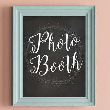 Whimsical Wedding Chalkboard Photo Booth Sign