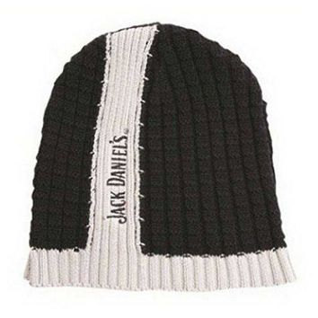 Jack Daniels Men's Center Stripe Skull Winter Beanie Hat OSFM JD77-85