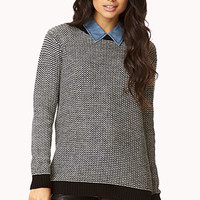 FOREVER 21 Static Waffle Knit Sweater
