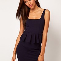 River Island Peplum Dress at asos.com