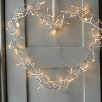 Fairy Light Heart Wreath