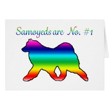 Samoyed No. 1 Note Card;Celebration & Customizable Card