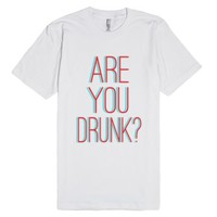 Are You Drunk Trippy 3d Shirt-Unisex White T-Shirt