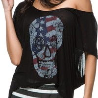 SWELL COLLECTION MUERTO AMERICAN FLAG SKULL TEE | Swell.com