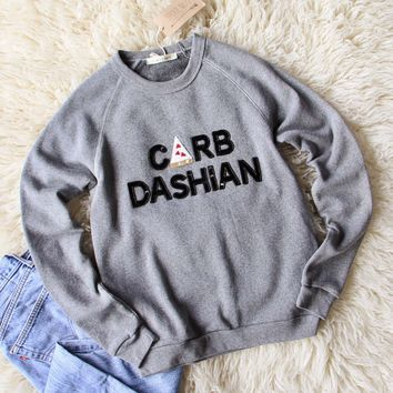 Bow & Drape Carb Dashian Sweatshirt