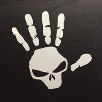 Jeep Wave Skull Decal