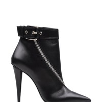 Giuseppe Zanotti Design Zip Ankle Boots - Black Leather Booties - ShopBAZAAR