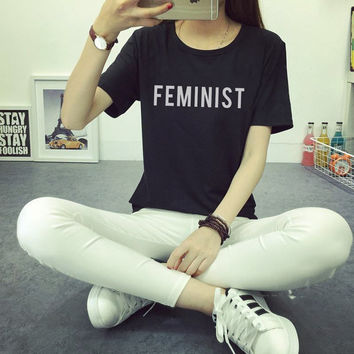 Feminist T-Shirt - Gift for friend - Present - Feminist shirt feminist tshirts feminsm quotes feminist print this is what a feminist