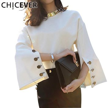 CHICEVER Spring Flare Sleeve