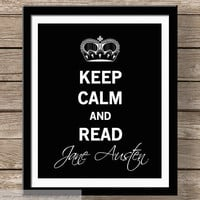 Keep Calm Jane Austen Typography Wall by JaneAndCompanyDesign