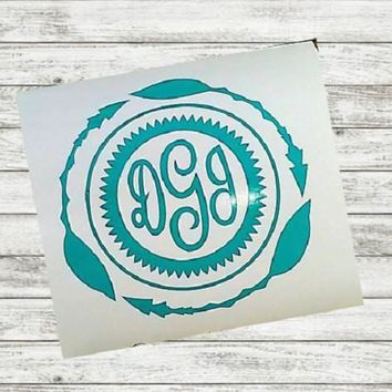 Monogram Boho Decal, Yeti cup Decal