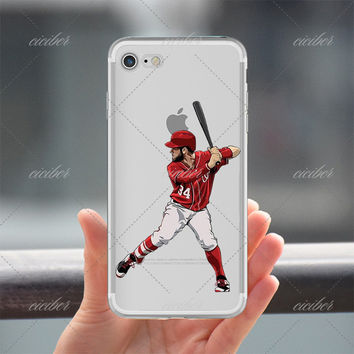 Batter Up Baseball Clear Phone Case for ALL iPhone 7 7Plus 6 6s Plus 5 5s SE