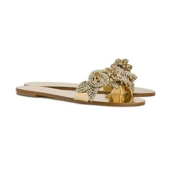 DCCKIN3 Sophia Webster Lilico Crystal Embellished Flat Sandals