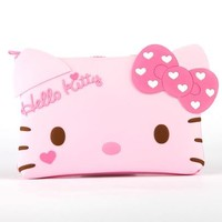 Hello Kitty Silicone Pouch: Heart Bow