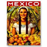 Vintage Mexico Travel Poster Postcards