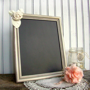 Wedding Chalkboard Frame, Chalkboard Sign, Wooden Frame, Burnished Gold, Decorated
