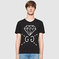 Men's GUCCI Casual Diamond Tunic Shirt Top Blouse
