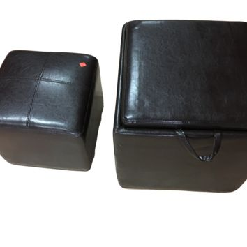 Faux Leather Ottoman and Foot stool