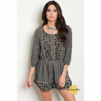 Lady Of Mystery Paisley Romper