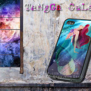 iphone case,The Little Mermaid Ariel Mermaid galaxy,iphone 5 case,iphone 4/4s case,samsung s3,s4 case,accesories,cell phone,hard plastic.