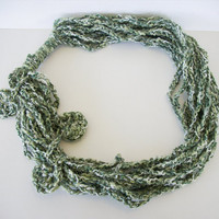 Ivy Wrapped Chunky Asymetrical Necklace by OneStitchDesigns
