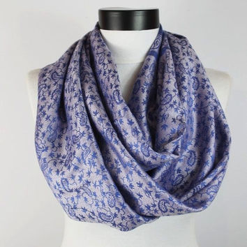 blue pashmina scarf,infinity scarf, scarf, scarves, long scarf, loop scarf, gift