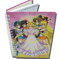 Notebook Hardcover Princess Serenity with Inner Senshi Sailor Moon anime paper