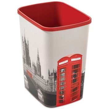 Decorative London Wastebasket