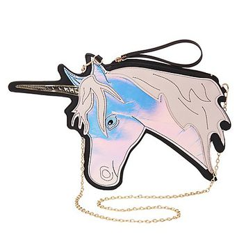 Holographic Unicorn Crossbody Bag