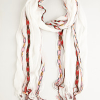 The 'Round of Music Scarf in White | Mod Retro Vintage Scarves | ModCloth.com