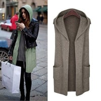 Sweater Hats Sleeveless Jacket [9344403652]