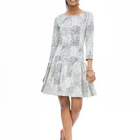 Banana Republic Womens Textured Fit And Flare Dress