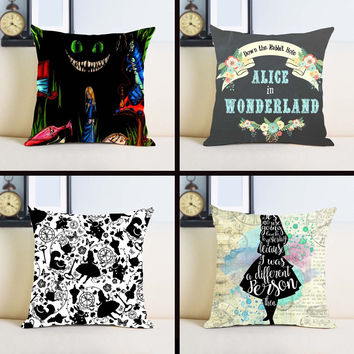 New Arrival Popular Alice In Wonderland Before Christmas Sally Love Gift Throw Pillowcase Zippered Pillow Cover