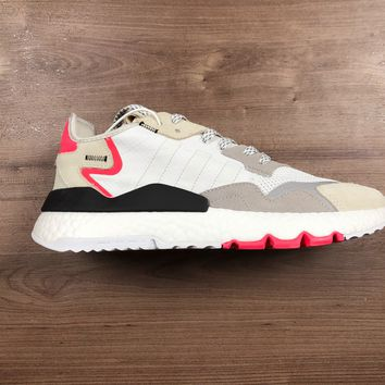 HCXX A1181 Adidas Nite Jogger 2019 Boost Breathable Running Shoes Gray Pink