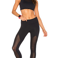 Sprinter Mesh Legging in Black