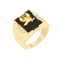 3-stone Shriners Men's Ring, size : 13