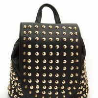 Allover Punk Studded Backpack